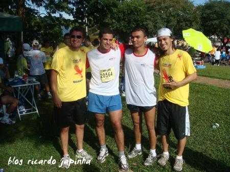 Esq. p/ dir.: Paulo Nigro, André, Isael e Japinha